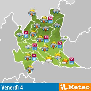 previsioni per la Lombardia a cura di meteo.it