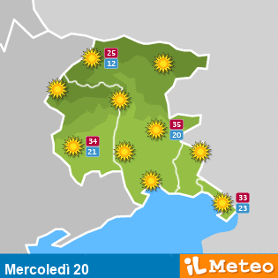 0.FRI Previsioni meteo giornaliere a Codroipo