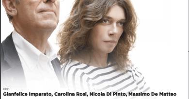 IL SALOTTO A TEATRO  OSPITA  GIANFELICE IMPARATO E CAROLINA ROSI