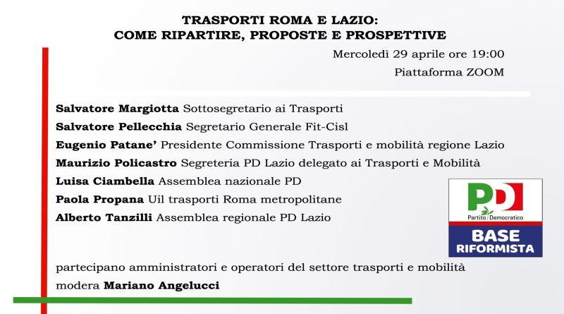 PD, assemblea sui trasporti a Roma e nel Lazio