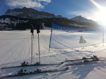 A scuola di sci in Alta Badia