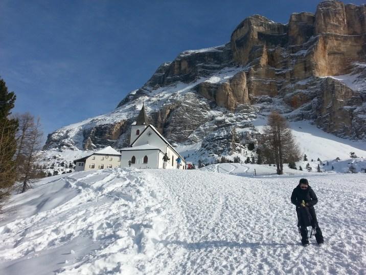 A lezione di sci con il mio maestro di sci in Alta Badia