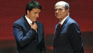 Renzi - Bersani. Foto Internet