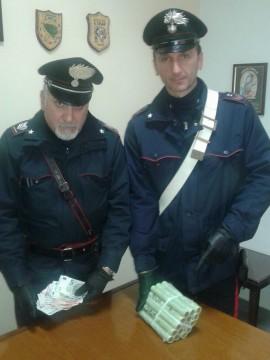 carabinieri rapina banca carini