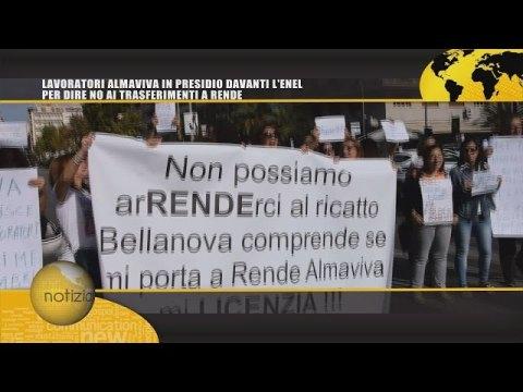 SICLIA HD TG   LAVORATORI ALMAVIVA IN PRESIDIO DAVANTI L'ENEL