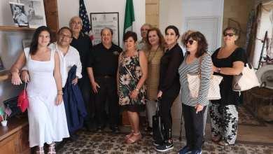 Isola delle Femmine foto con la famiglia Siino i cui nonni emigrarono in America nello stesso periodo della famiglia Di Maggio