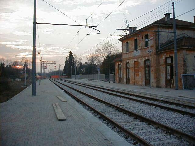 La stazione di Oderzo durante i restauri (metà anni '90)