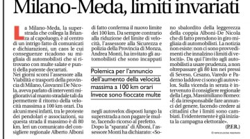 C'è confusione tra gli utenti della Mi-Meda, molti credono che sia in vigore il nuovo limite dei 100! Su Avvenire un articolo che fa chiarezza.
