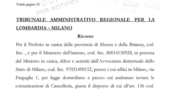 Profughi: il Prefetto di Monza trascina Lazzate in tribunale