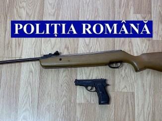 Arme neletale, descoperite în trafic. FOTO IPJ Ialomița