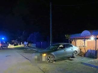 Două tinere au fost rănite de un autoturism care s-a răsturnat peste ele. FOTO IPJ Ialomița