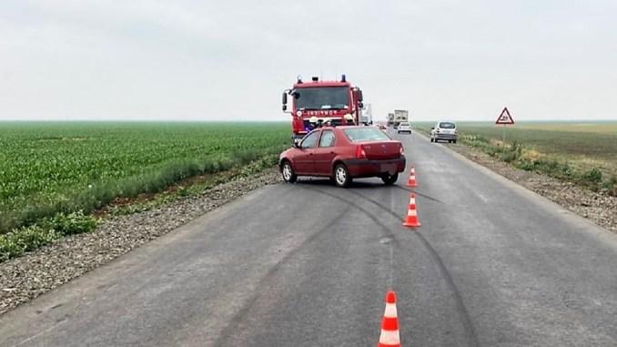 Accident rutier pe DN2C, între localitățile Grivița și Amara. FOTO IPJ Ialomița