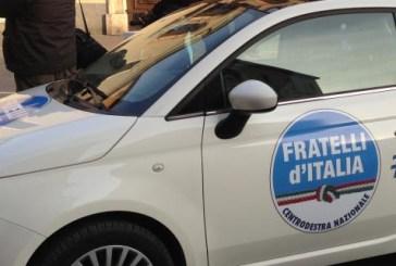 In città le 500 di Fratelli d'Italia