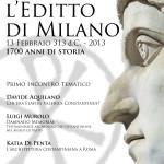 L'editto di Milano Primo Incontro