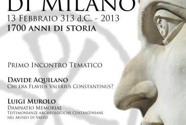 Una serie di incontri sull'Editto di Milano