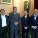 Il Presidente Di Giuseppantonio con il prof. Di Martino e i vertici Alesa