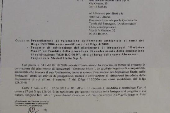 lettera ministero regione
