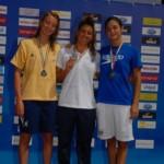 Giulia De Ascentis, la prima a sinistra