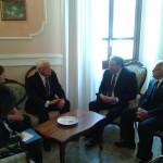 Il Presidente Di Giuseppantonio incontra l'Ambasciatore di Albania (secondo da sx)