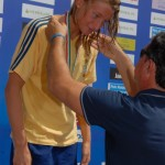 Giulia De Ascentis e medaglia, apr 2013