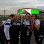 Giulia-De-Ascentis-con-le-compagne-di-squadra-a-Kazan-in-Russia