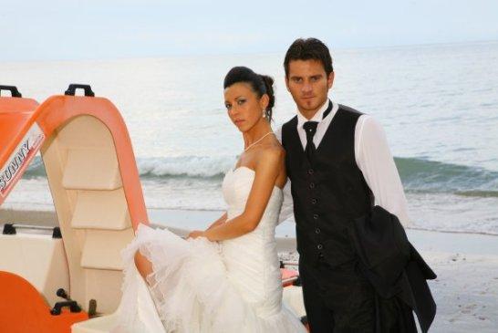 Andrea Servi, matrimonio