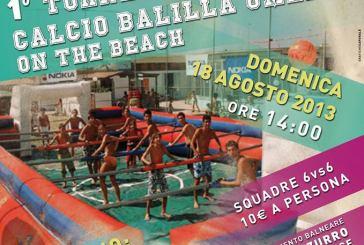 1° Torneo di Calcio balilla umano on the beach