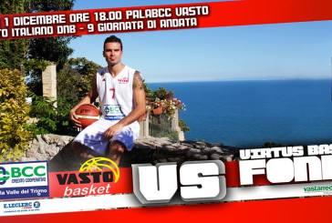 Domenica seconda gara casalinga di fila per la Bcc Vasto Basket