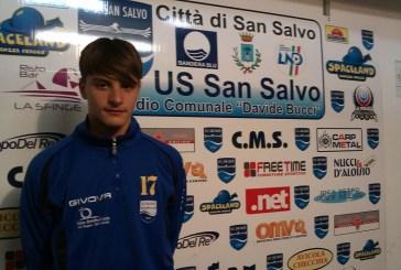 Il giovane calciatore del San Salvo Francesco D'Aulerio convocato a Coverciano