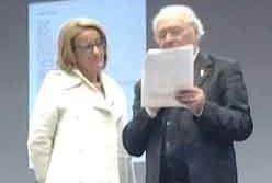 Il prof. Luigi Alfiero Medea nella giuria