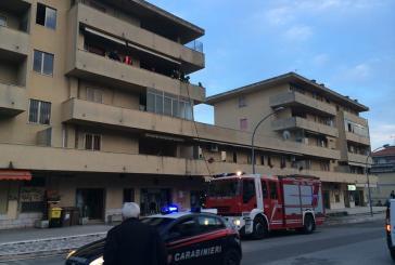 Appartamento a fuoco in via Ciccarone