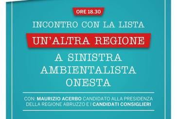 Maurizio Acerbo e candidati di PRC alla Regione alla villa comunale di Vasto