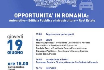 Opportunità in Romania: Automotive, Edilizia pubblica e Infrastrutture, Real Estate