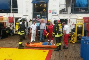 Esercitazione antincendio al porto di Vasto