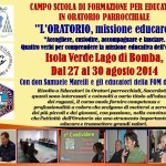 CAMPO SCUOLA EDUCATORI IN ORATORIO 2014.2015 Fb.2