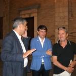 D'Alfonso, Venosini e Olivieri. Foto di Daniele Leone
