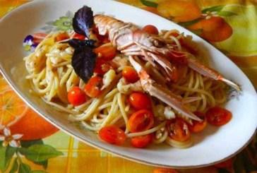 Cecamariti con scampi dell'adriatico e pistacchio di bronte