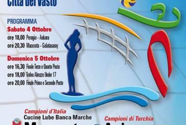 Volley: i campioni d'Italia e di Turchia al secondo quadrangolare Città del Vasto