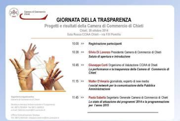 Camera di Commercio, l'appuntamento annuale con la Giornata della trasparenza