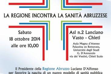 Il presidente della Regione D'Alfonso incontra il personale della Asl Lanciano Vasto Chieti