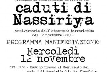 Caduti di Nassiriya, domani la commemorazione a Vasto