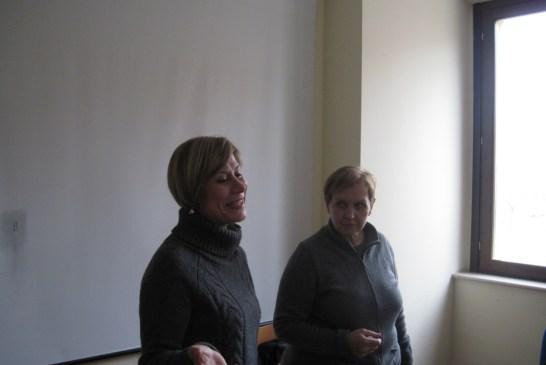 La dott.ssa Barbato e la dott.ssa Sacchet
