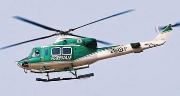 Un elicottero della Forestale soccorre animali rimasti senza cibo