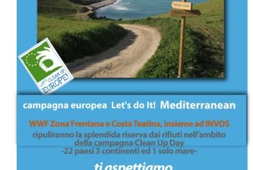 Clean up day, campagna europea per la pulizia delle coste a Punta Aderci