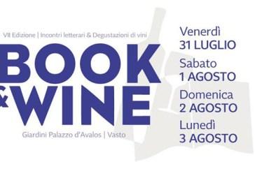Vasto: al via la VII edizione di Book&Wine, riuscito connubio tra incontri letterari e degustazioni di vini