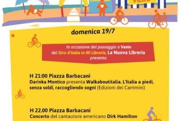 Darinka Montico e Dirk Hamilton per la tappa vastese del Giro d'Italia in 80 librerie