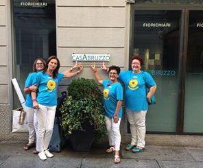 L'associazione Ricoclaun onlus nella sede di CasAbruzzo a Milano