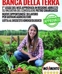 Su iniziativa del Movimento 5 Stelle nasce la Banca della Terra d'Abruzzo