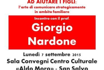 San Salvo: il prof Nardone parlerà sull'arte di comunicare strategicamente in ambito familiare