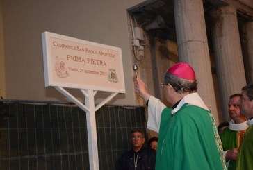 Benedizione della posa della prima pietra del campanile di S. Paolo, riviviamo la sentita cerimonia